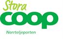 Företagslogga sponsor friidrottsskola Stora Coop Norrtäljeporten